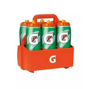 Gatorade 6 Pack 32 Oz Pro Squeeze Bottles Carrier